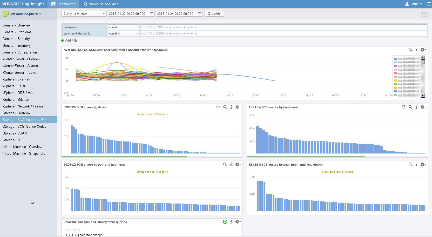 Troubleshooting Storage Problems with Log Insight and vROps