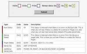 SCSI Sense Code Decoder