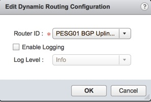 Edit Dynamic Routing Configuration