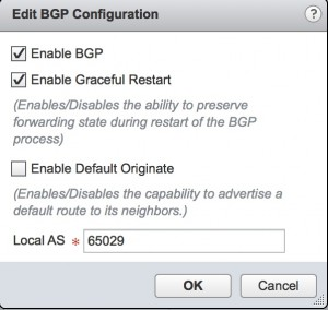 Edit the BGP Configuration