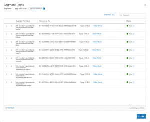 NSX-T Segment Ports for the Guestbook App